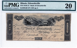 Edwardsville, Illinois, $10, 1810s-21