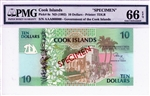 8s, 10 Dollars, Cook Islands, ND (1992)