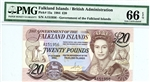 15a, 20 Pounds, Falkland Islands, 1984