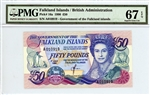 16a, 50 Pounds, Falkland Islands, 1990