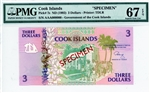 7s, 3 Dollars Cook Islands, ND (1992)