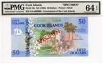 10s, 50 Dollars Cook Islands, ND (1992)