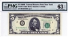 1971-B (BC Block), $5 Federal Reserve Note New York, 1969B
