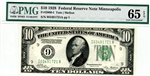 2000-I, $10 Federal Reserve Note Minneapolis, 1928
