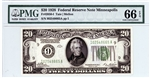 2050-I, $20 Federal Reserve Note Minneapolis, 1928