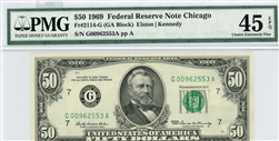 2114-G, $50 Federal Reserve Note Chicago, 1969