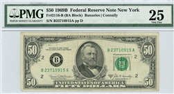 2116-B, $50 Federal Reserve Note New York, 1969B