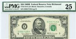 2116-E, $50 Federal Reserve Note Richmond, 1969B