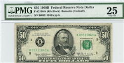 2116-K, $50 Federal Reserve Note Dallas, 1969B