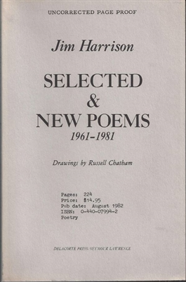 Selected and New Poems by Jim Harrison