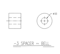 SPACER-BELL BRASS POLISHED