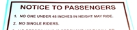 "DECAL ""NOTICE TO PASSENGERS"""