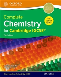 Complete Chemistry for Cambridge IGCSE Student book (3rd Edition)