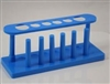 Test Tube Stand Plastic 6 Hole with dryer pins