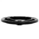 "Adjustable 18"" Diameter Cast Black Nylon Foot Ring"