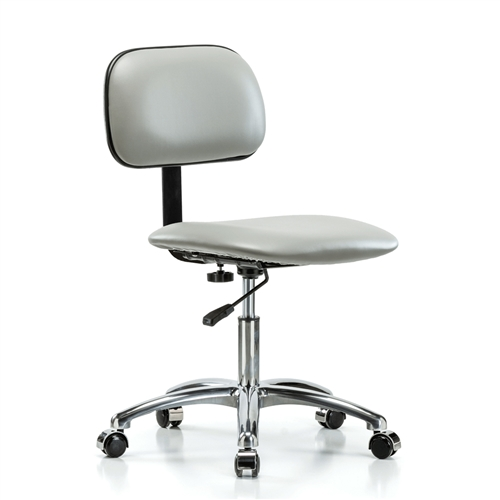 Perch Lab Chair Chrome With Basic Backrest