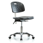 Perch Clean Room Ergonomic Industrial Chair with Handle