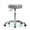 Perch Single Lever Swivel Stool in Chrome