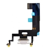 USB Charger Charging Port Dock Connector Mic Flex Cable for iPhone XR (White)