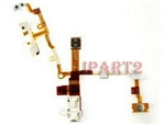 Headphone Earphone Jack Power Volume Switch Flex Cable for iPhone 3GS White