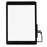 Touch Digitizer Screen + Home Button Flex+ Adhesive Assembly for iPad 2017 (Black)