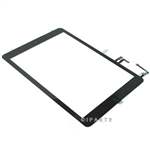 Black Touch Digitizer Screen + Home Button Flex + Adhesive Assembly for iPad Air 1 (Original)