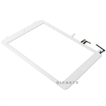 White Touch Digitizer Screen + Home Button Flex + Adhesive Assembly for iPad Air 1 (Original)