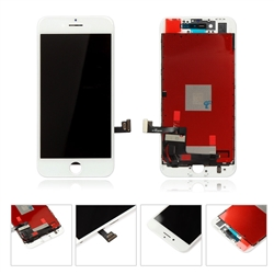 LCD Display Touch Screen Digitizer Frame Assembly for iPhone 8 4.7'' (White)