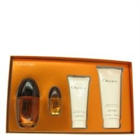 Obsession Perfume Gift Set - 3.4 oz Eau De Parfum Spray + 6.7 oz Body Lotion + .5 oz Mini EDP Spray + 3.4 oz Shower Gel