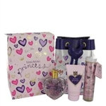 Princess Perfume Gift Set - 3.4oz Eau De Toilette Spray + 2.5oz Body Lotion + .33oz Mini Roller Ball Pen + Lip Gloss Key Chain