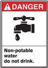Danger Label NonPotableWater