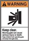 Warning Label KeepClear