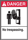 Danger Label NoTrespassing