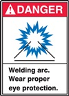Danger Label WeldingArc