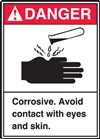 Danger Label CorrosiveNoEyeContact