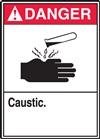 Danger Label Caustic