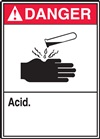 Danger Label Acid