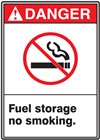 Danger Label FuelStorageNoSmoking