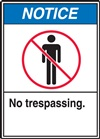 Notice Label NoTrespassing