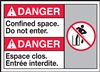 Danger Label DoNotEnterSpace