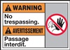Warning Label NoTrespassing