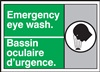 Emergency Label Eye Wash