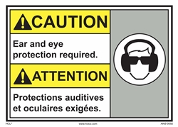 Caution Sign Ear Protection Required