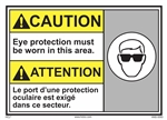 Caution Sign Eye Protection Must Be Worn