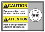 Caution Sign Eye Protection Required