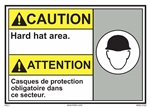 Caution Sign Hard Hat Area