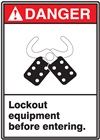 Danger Label Lockout Equipment