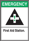 Emergency Label First Aid Station