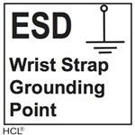 Safety Label ESD Wrist Strap Grounding Point