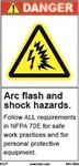 Danger Label - Arc Flash